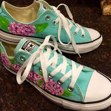 lilly pulitzer inspired hand painted converse sneakers