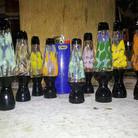 American Made Glass Tobacco Lava Lamp Chillum