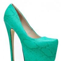 Faux Snake Skin Green Pointed Almond Toe Pumps @ Cicihot Heel Shoes online store sales:Stiletto Heel Shoes,High Heel Pumps,Womens High Heel Shoes,Prom Shoes,Summer Shoes,Spring Shoes,Spool Heel,Womens Dress Shoes
