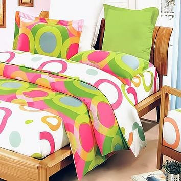 Rhythm of Colors 100% Cotton 7PC MEGA Comforter Cover/Duvet Cover Combo King Size