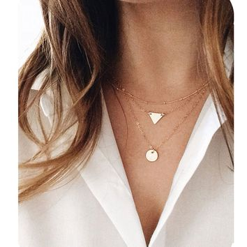 Defiro Layered Necklaces Pendant Good Luck Horseshoe Rhinestone Necklace for Women Jewelry