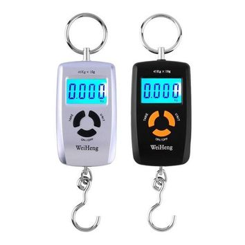 CREYONV wh a05l lcd portable digital electronic scale pocket 45kg 10g luggage hanging fishing hook balance scale electronic lb oz kg new