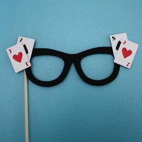 Glasses on a Stick The Blackjack by MaroDesigns on Etsy