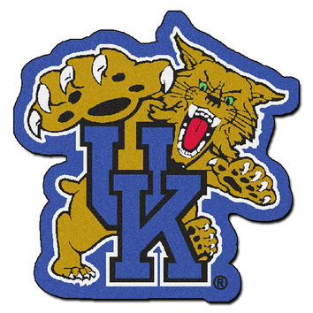 Kentucky Wildcats NCAA Cut-Out Floor Mat (Wildcat Logo)