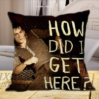 Dylan Obrien How Did I on Square Pillow Cover