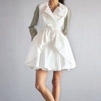 White Double Trench Coat