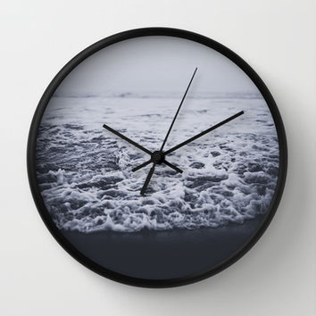 Out to Sea Wall Clock by Leah Flores
