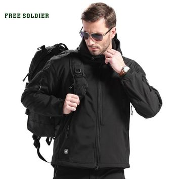FREE SOLDIER Outdoor Sport Tactical Military Jacket Men's Clothing For Camping Hiking Windproof