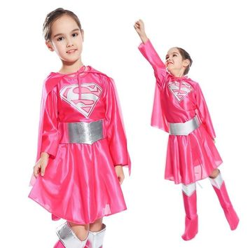 Superwoman pink Costumes For Girls