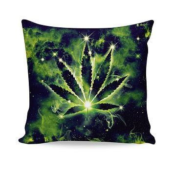 Weed Constellation Couch Pillow