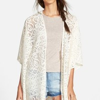 Junior Women's Love on a Hanger Crochet Kimono,