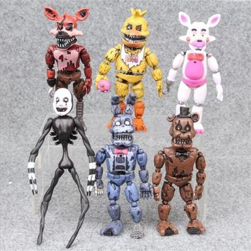 6 Styles    Drawing 13-17 Cm Bonnie Ford Freddy Toys 5 Fazbear Bear Dolls Children's Toys Gifts