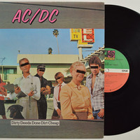 "AC/DC - ""Dirty Deeds Done Dirt Cheap"" vinyl record"