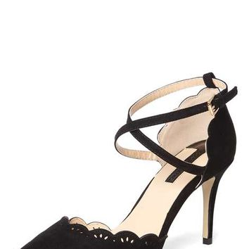 Black 'Genna' Lazer Cut Court Shoes - View All New In - New In