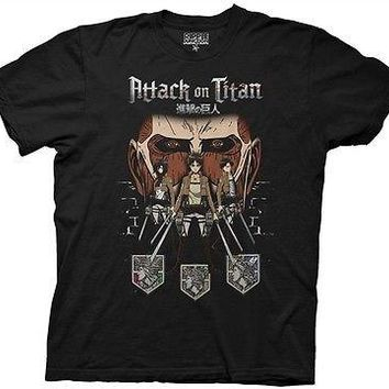 Attack on Titan Shadows Anime TV Cartoon Cotton Adult T Shirt