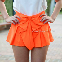BOW SHORTS , DRESSES, TOPS, BOTTOMS, JACKETS & JUMPERS, ACCESSORIES, 50% OFF SALE, PRE ORDER, NEW ARRIVALS, PLAYSUIT, COLOUR, GIFT VOUCHER,,SHORTS,Orange Australia, Queensland, Brisbane