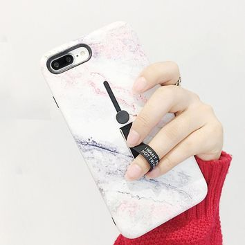 Marble iPhone Case w/ Stand & Ring