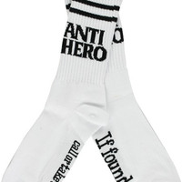 Antihero Blackhero If Found Crew Socks White 1 pair