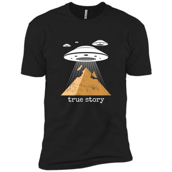 Ancient Alien Theory Novelty  - UFO Conspiracy  Next Level Premium Short Sleeve Tee