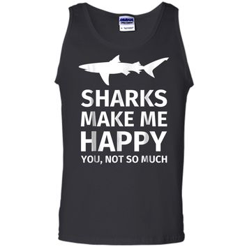 Shark Gifts for Shark Lovers - Funny Sharks Happy  Tank Top