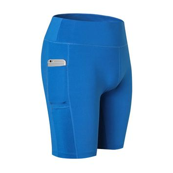 Sport Shorts with Pocket Breathable Athletic Running Fitness Gym Shorts