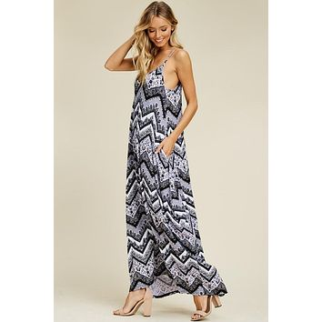 Boho Vibes Maxi Dress -Black