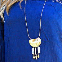 PRIZED MEDALLION NECKLACE IN WHITE