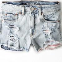 AEO Women's Hi-rise Festival Shortie (Light Wash)