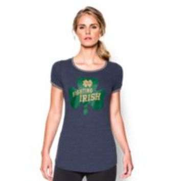Under Armour Women's UA Charged Cotton Tri-Blend 2015 Notre Dame Iconic 6 T-Shirt