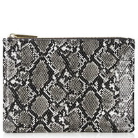 Basic Zip Top Clutch - Grey