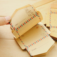 Mini Retro Vintage Kraft Paper Envelopes Cute Cartoon Kawaii Paper Korean Stationery Gift
