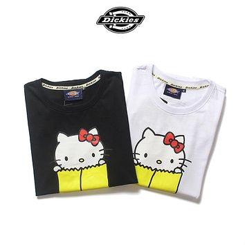 Dickies HELLO KITTY Women Fashion Casual Tunic Shirt Top Blouse