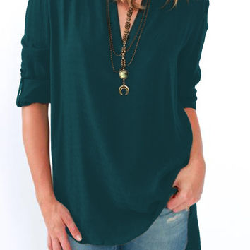 V-Neck High-Low Top