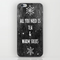 Tea And Socks iPhone & iPod Skin by ALLY COXON | Society6
