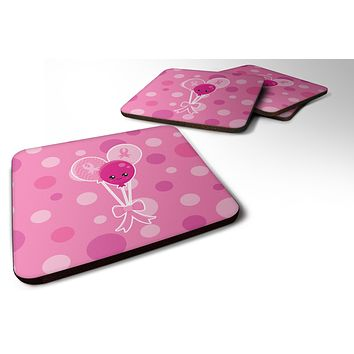 Breast Cancer Awareness Ribbon Balloons Foam Coaster Set of 4 BB6979FC