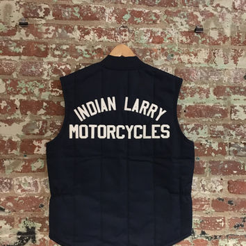 Indian Larry Quilted Workvest, Navy