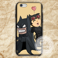 Batman And Catwoman Funny Face iPhone 4/4S, 5/5S, 5C Series, Samsung Galaxy S3, Samsung Galaxy S4, Samsung Galaxy S5 - Hard Plastic, Rubber Case