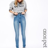 ASOS PETITE Ridley High Waist Ultra Skinny Jeans in Brookyln Light Was