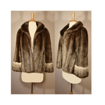 Vintage Fur Coat- Faux Fur Coat- Fur Shrug- Faux Fur Cape- Fur Stole- Fur Jacket
