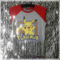 Pikachu Fringed & Beaded Shirt