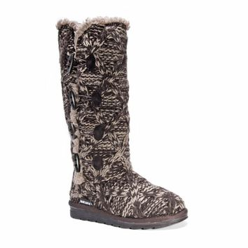 Muk Luks Women's Felicity Brown Polyester/Faux Fur Boots | Overstock.com Shopping - The Best Deals on Boots