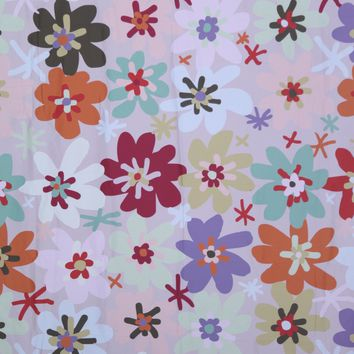 60's Inspired Flower Platinum Cloth Backdrop 5.5x6.5 - LCPC01PCSL193 - LAST CALL
