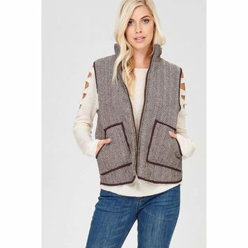 Herringbone Side Pocket Vest