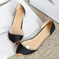 Casual Pointed Toe Ballet Flat Shoes
