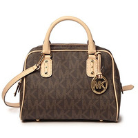 Michael Kors Small Signature Satchel - Brown