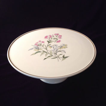 "Vintage Richard Ginori ""Primavera"" Cake Stand - Elegant Entertaining/Luxury Tableware - Birthday/Housewarming/Shower/Engagement/Wedding Gift"