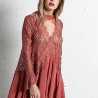 Free People Tell Tale Tunic - Dusty Mauve