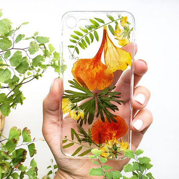 Palm phone case • iPhone 6 jungle phone case • Tropical phone case •  Pressed flowers tropical • iphone SE retro phone case •