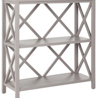 Liam Open Bookcase Quartz Grey