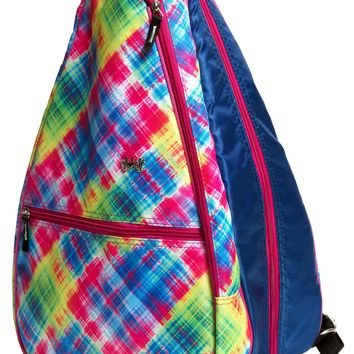 Electric Plaid Tennis Backpack